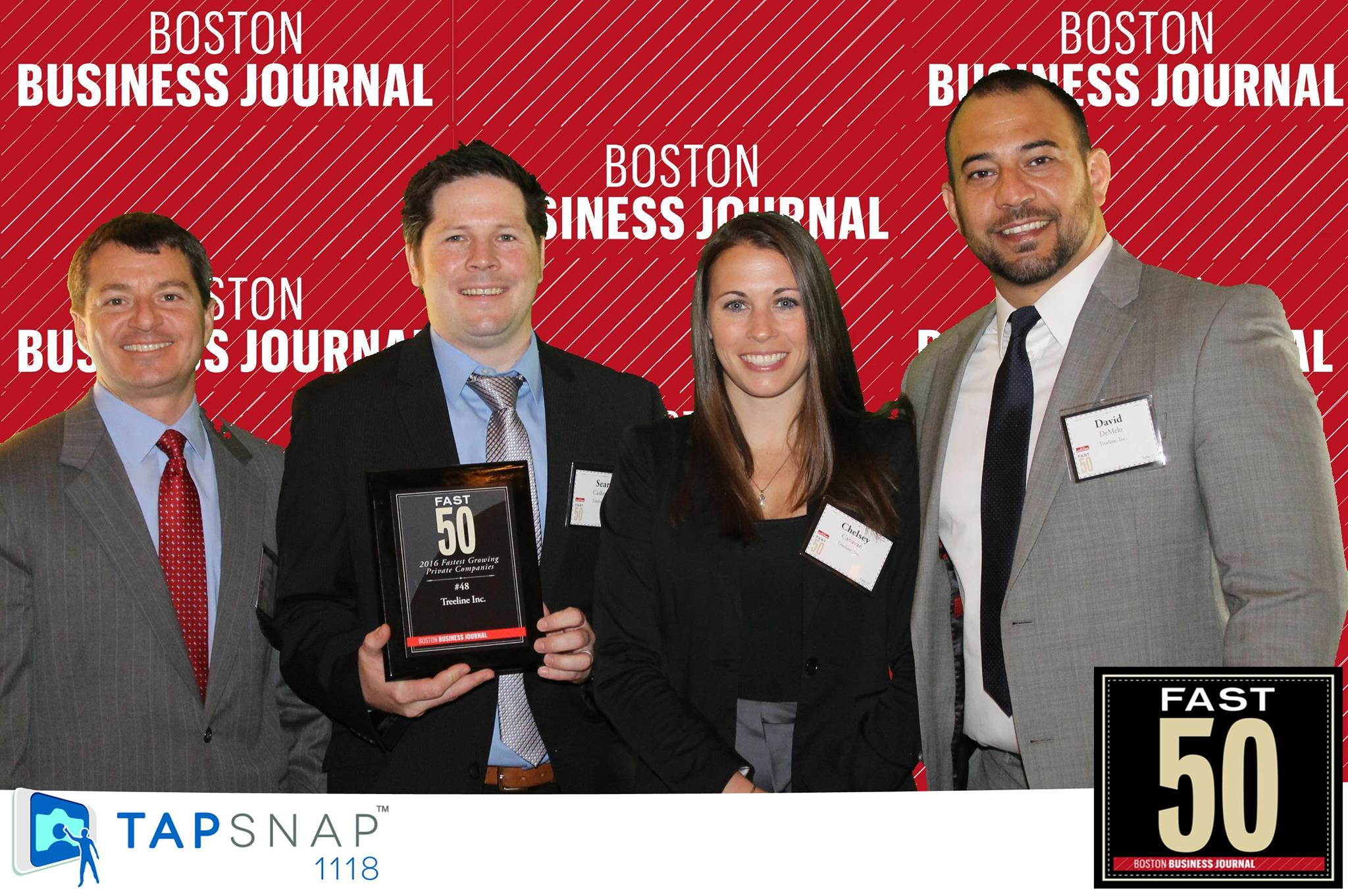 Treeline is recognized as the 48 fastest growing private company in MA by the Boston Business Journal