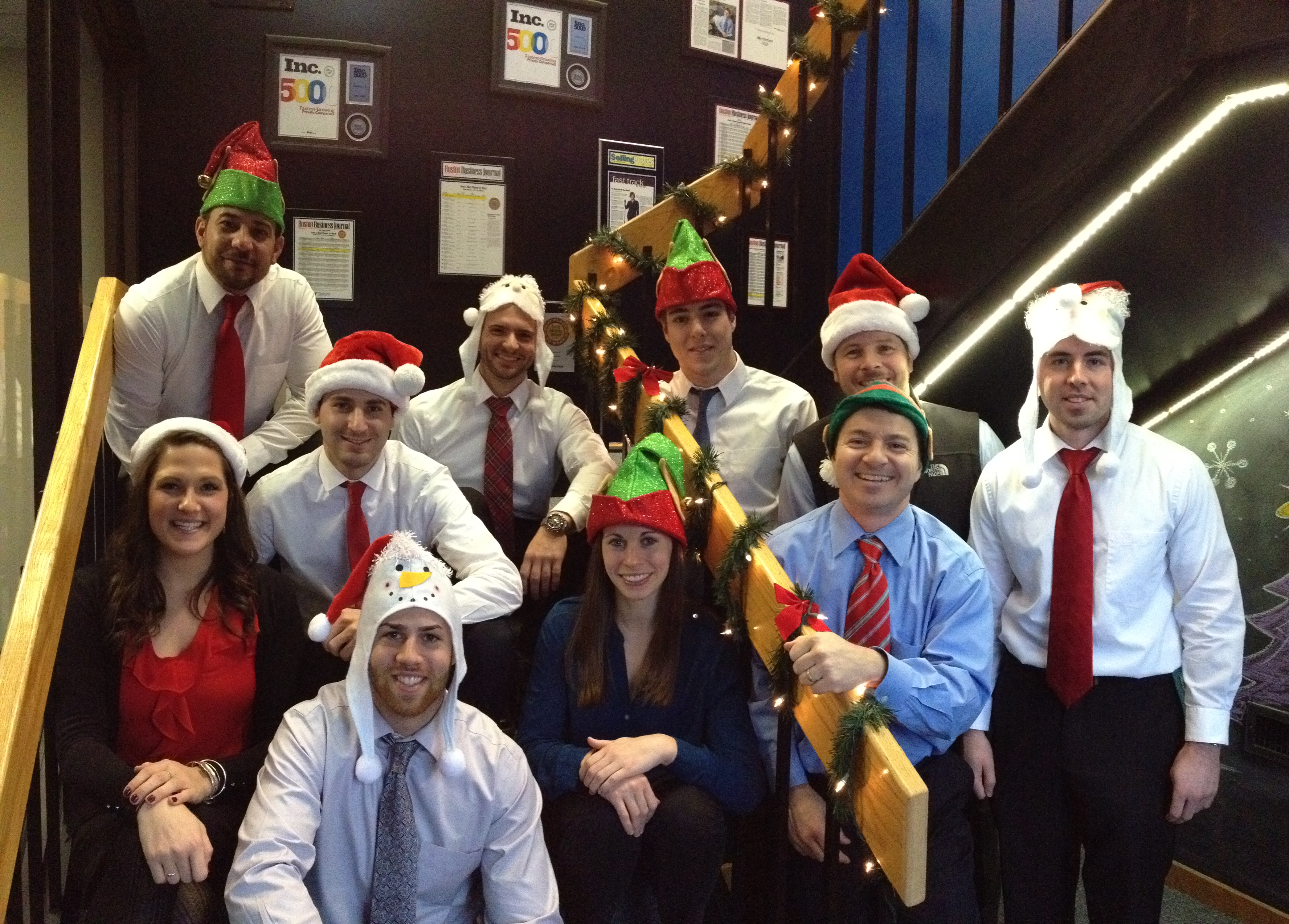 Treeline, Inc. taking a holiday picture