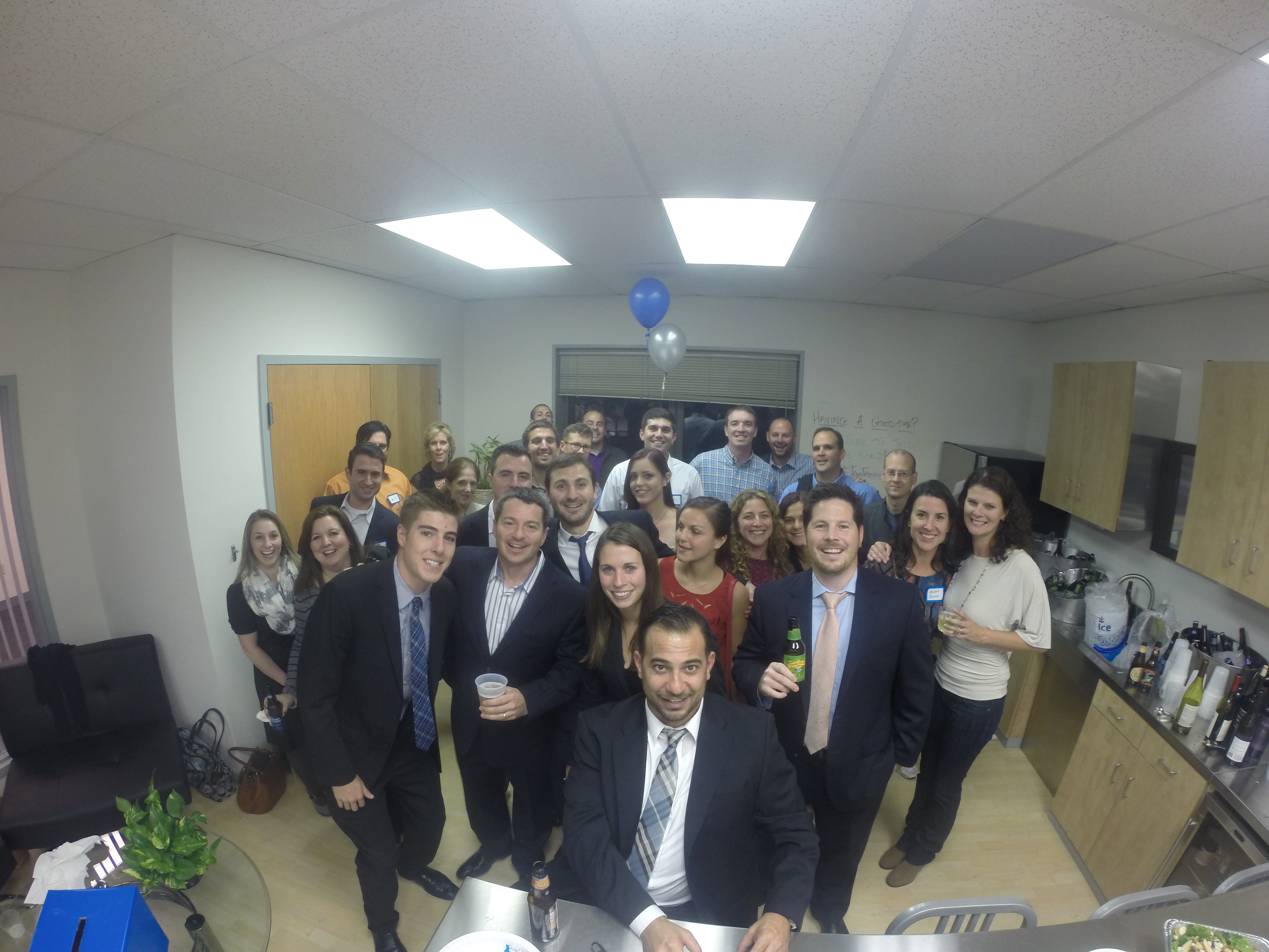 Treeline, Inc. celebrating the new office space with friends, family and the community
