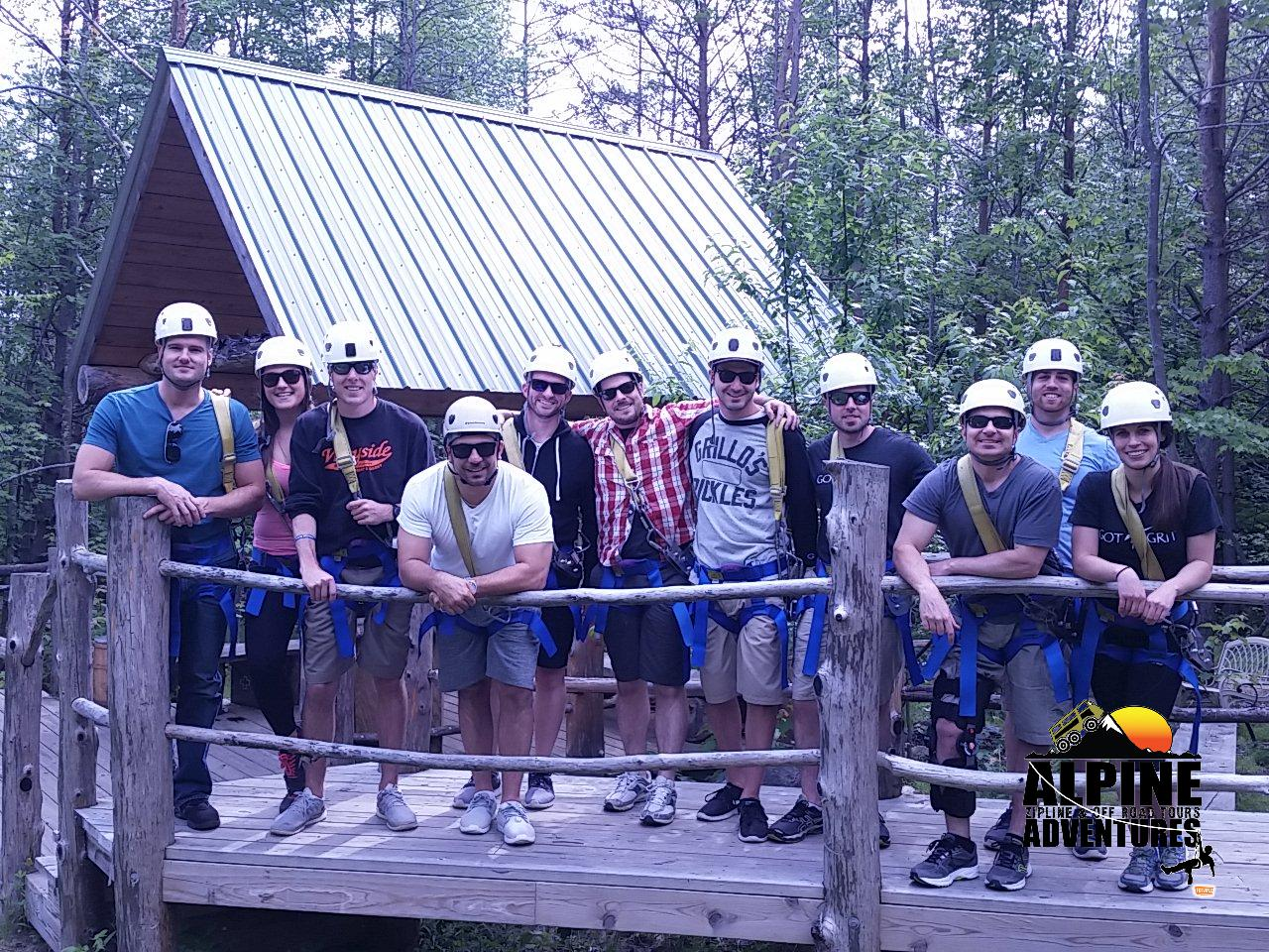 Treeline Inc goes ziplining for summer outing