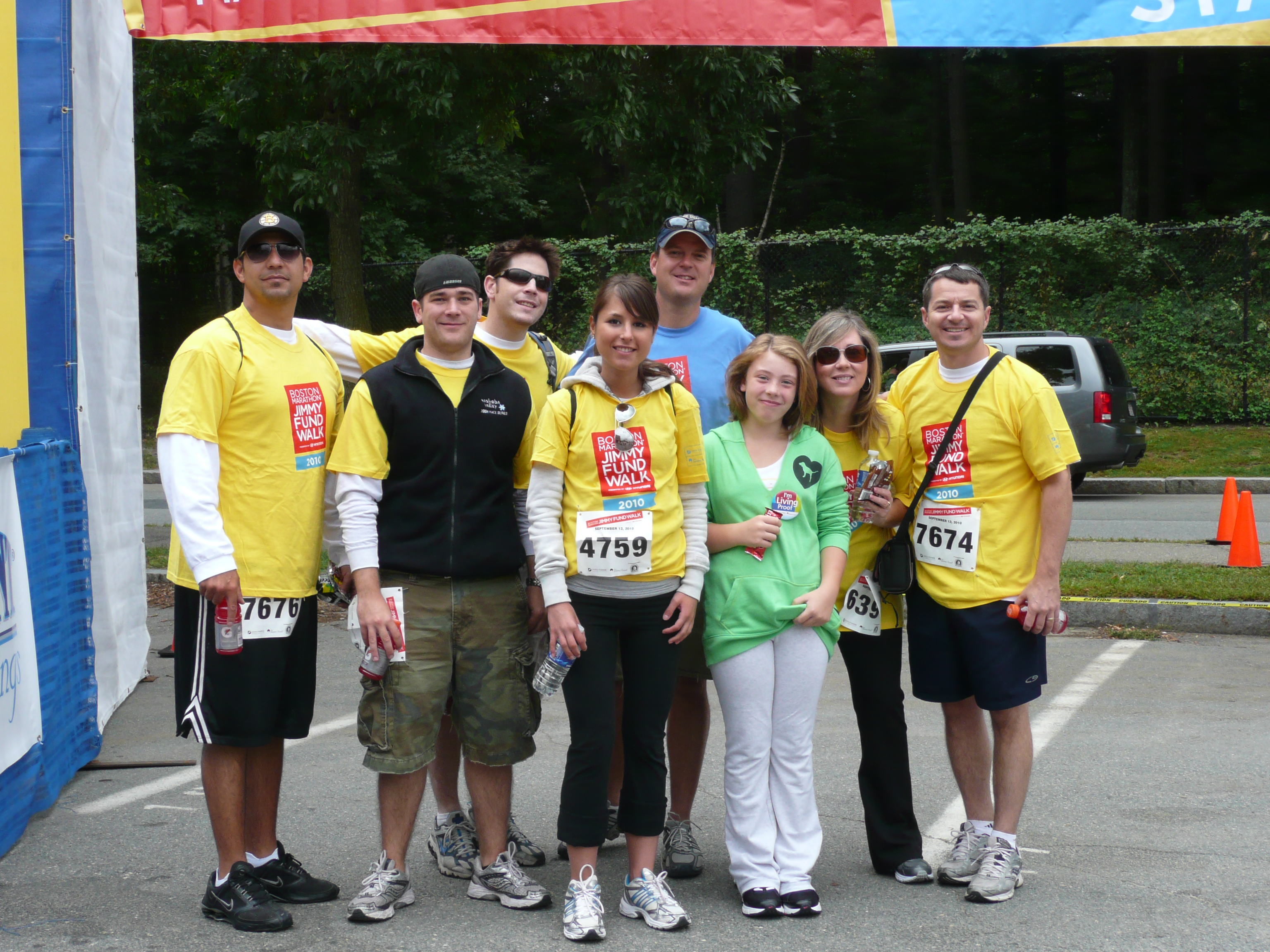 Treeline does the Boston Marathon Jimmy Fund Walk in 2010