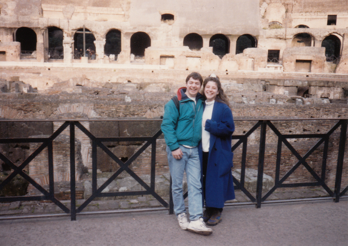Dan Fantasia and his HS sweetheart and wife in Rome