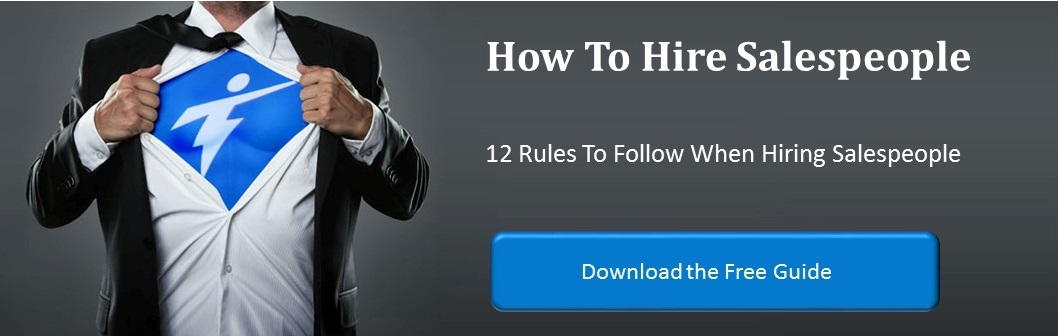 Free guide on 12 rules to follow when hiring sales professionals