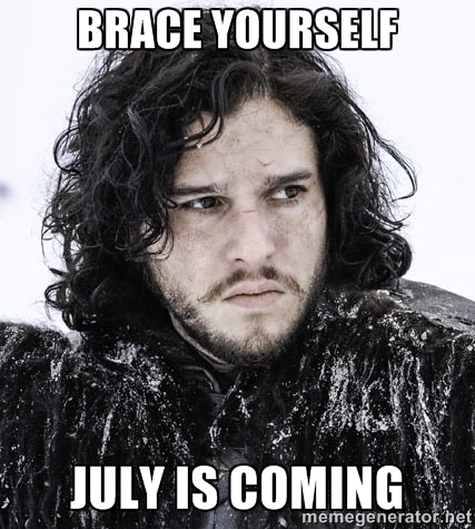 Jon Snow meme from Game of Thrones-summer is coming