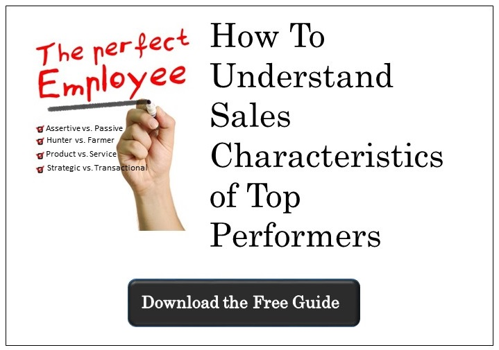 Sales characteristics of top sales performers