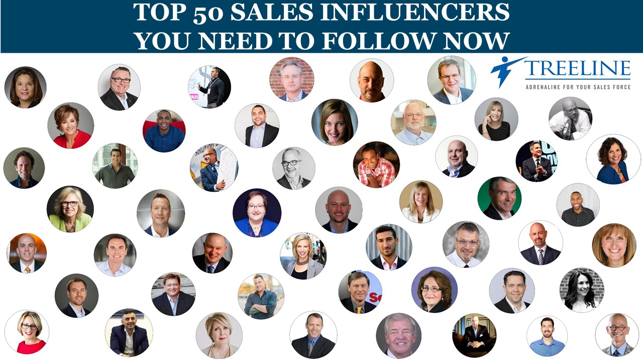 Top 50 Sales Influencers to Follow Now