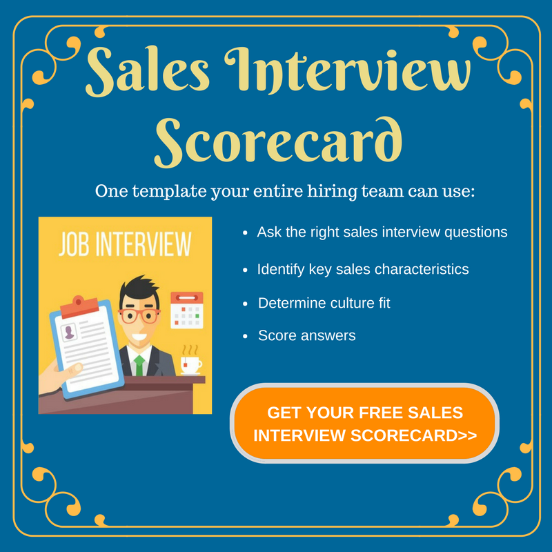 Sales Interview Scorecard Image