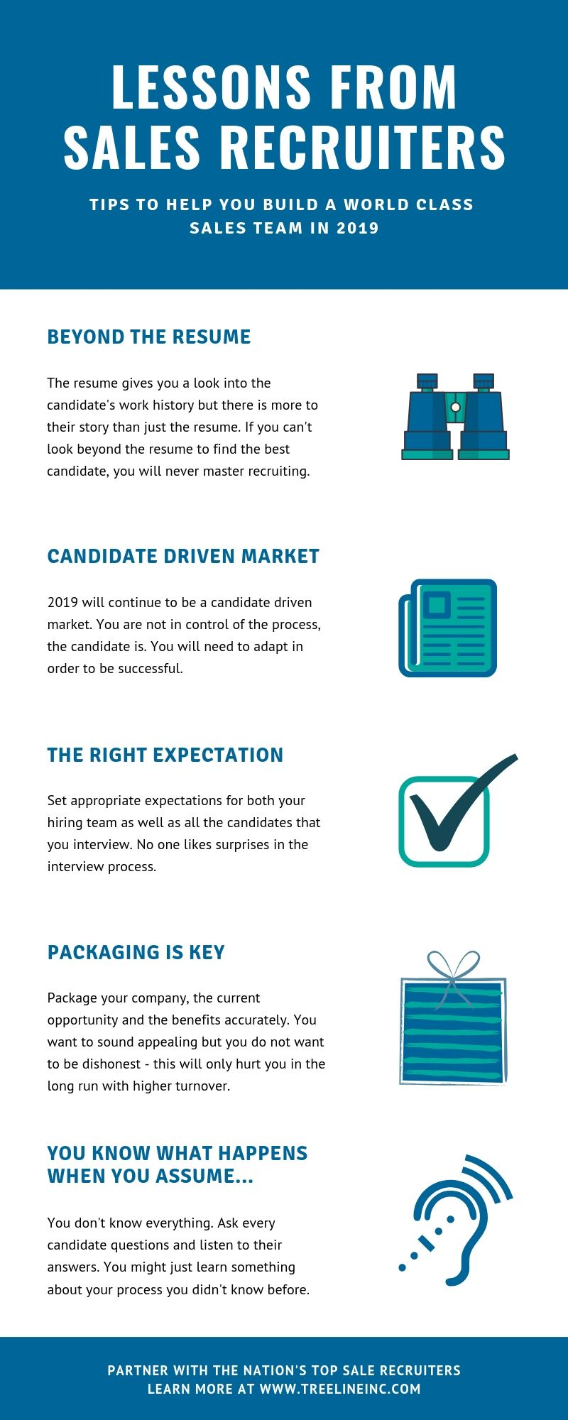 Lessons from sales recruiters Infographic
